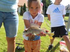 Viktorka Mazurová - vítězka rybářské soutěže