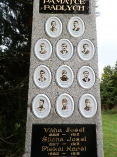 Rekonstrukce památníku padlých v Chabeřicích